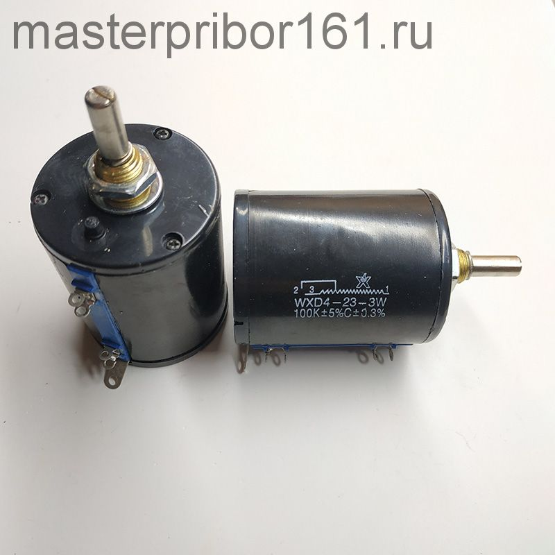 Потенциометр многооборотный  WXD4-23-3W   100 кОм