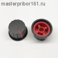 Ручка потенциометра Черно-Красная