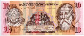 Гондурас 10 лемпир 2008