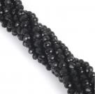 фото Бусины граненые Рондель (стекло) на нити цвет № 03 черный Разные размеры LSR-03