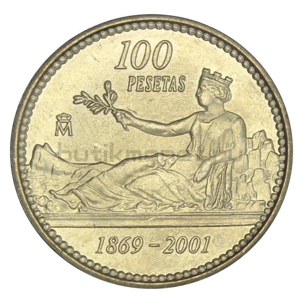 100 песет 2001 Испания 132 года песете
