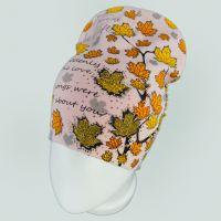 вд1636-42 Шапка трикотажная двойная удлиненка Осень персик