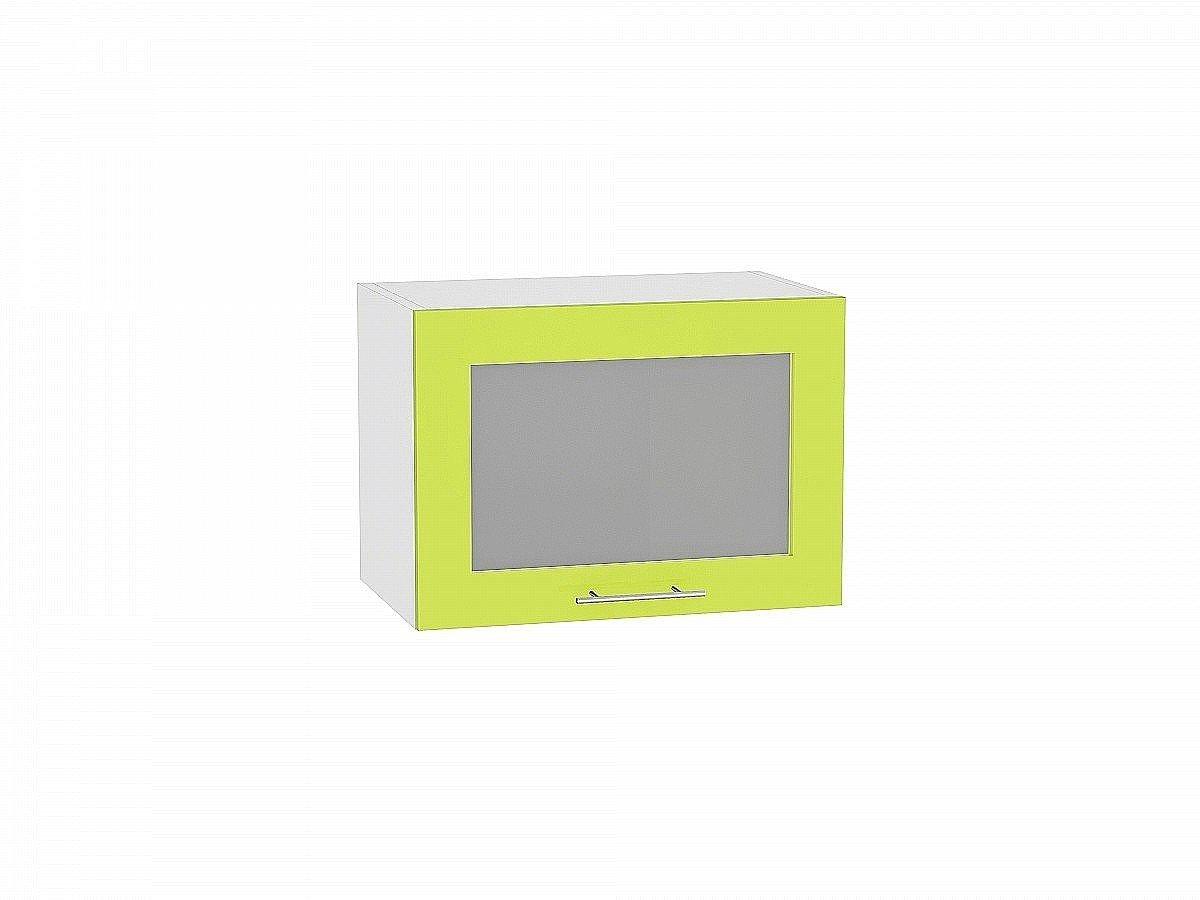 Шкаф верхний Валерия ВГ510 со стеклом (лайм глянец)