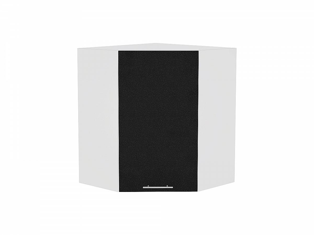 Шкаф верхний угловой Валерия ВУ590 (чёрный металлик)
