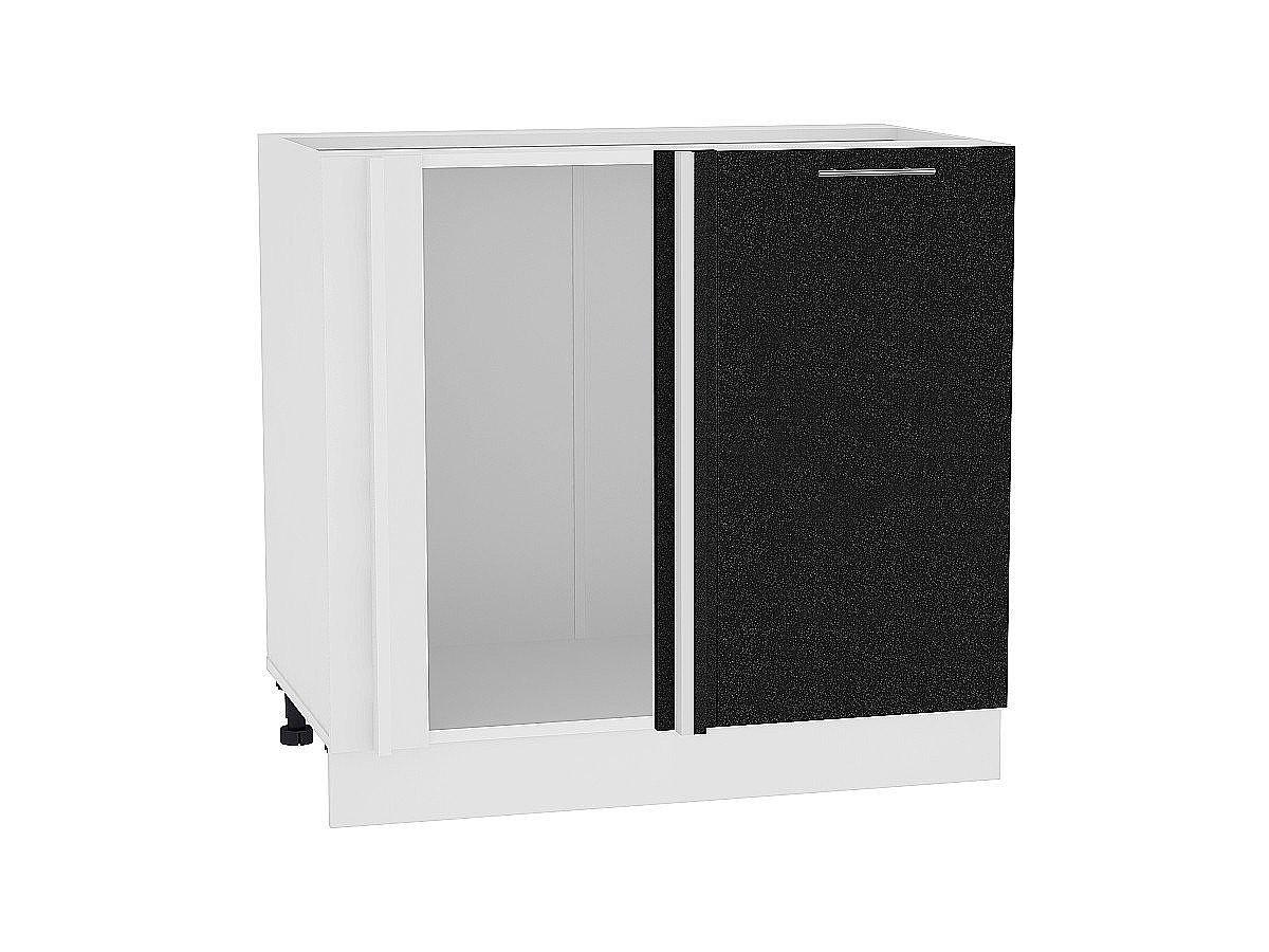 Шкаф нижний угловой Валерия НУ990 (чёрный металлик)