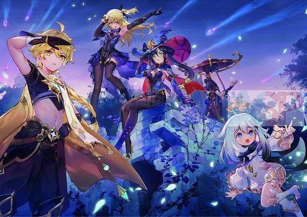 Плакат Genshin Impact