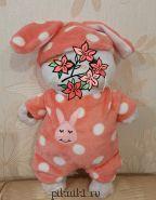 Комбинезон розовый с шапочкой