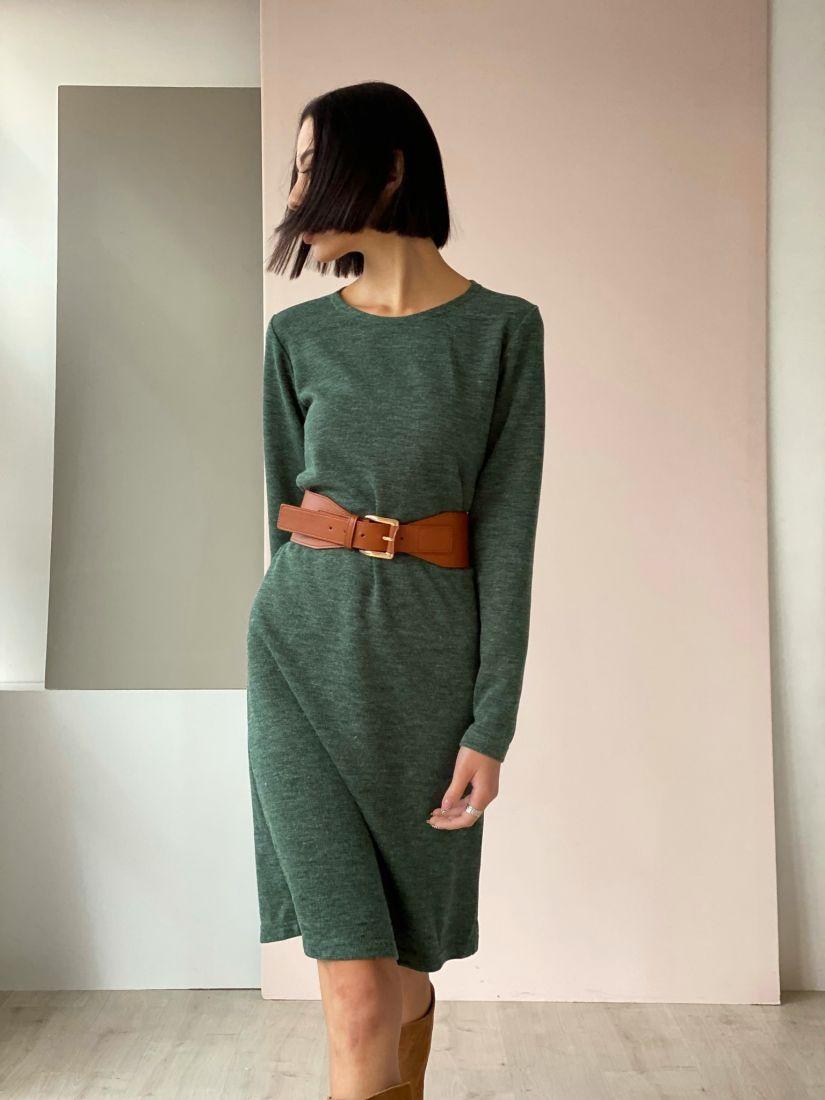 4517 Платье-свитер изумрудное