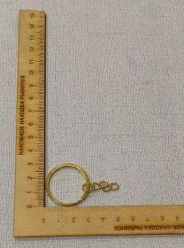 основа-кольцо с цепочкой для брелока диаметр 30 мм длина цепочки 20 мм цена за шт