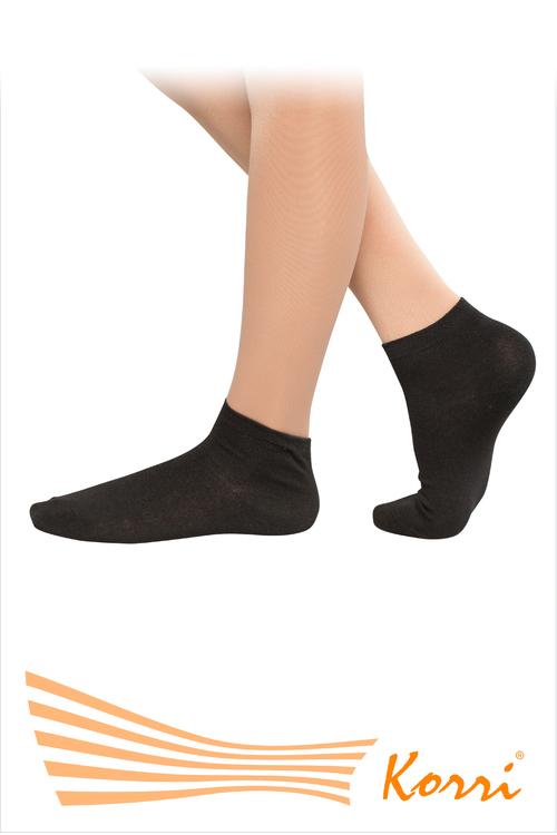 Носки спортивные чёрные, укороченный паголенок, размер 20-22 (33-36)
