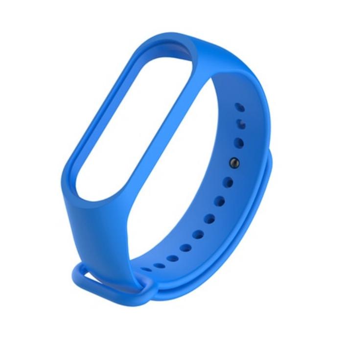 Силиконовый ремешок для Xiaomi Mi Band 3/4 (Синий)