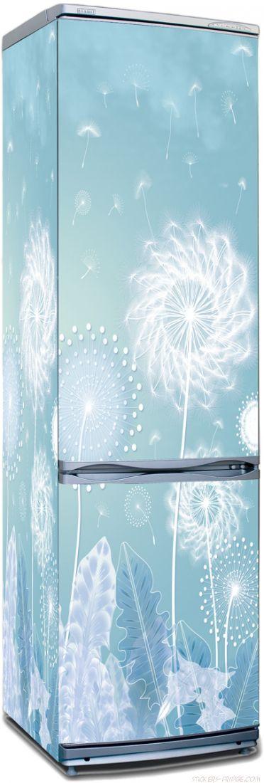 Наклейка на холодильник - Ажурная красота одуванчика