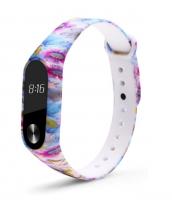 Силиконовый ремешок для Xiaomi Mi Band 2 ( Орнамент / цветы 2 )