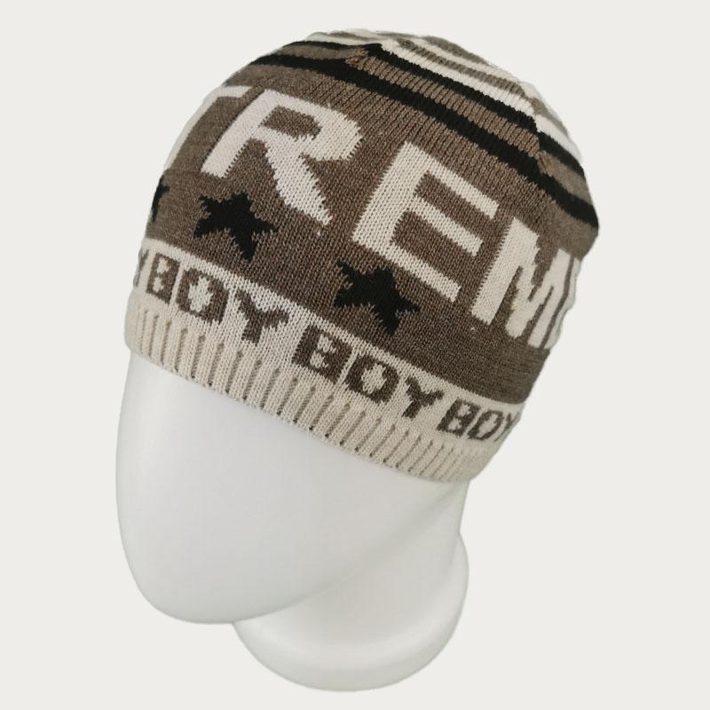 зм1203-26 Шапка колпачок вязаная Extreme boy лен