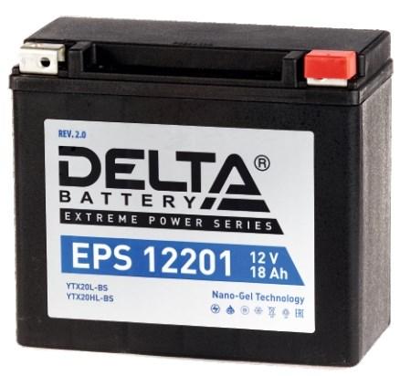 Мото аккумулятор АКБ Delta (Дельта) EPS 12201 18Ач о.п YTX20HL-BS, YTX20L-BS