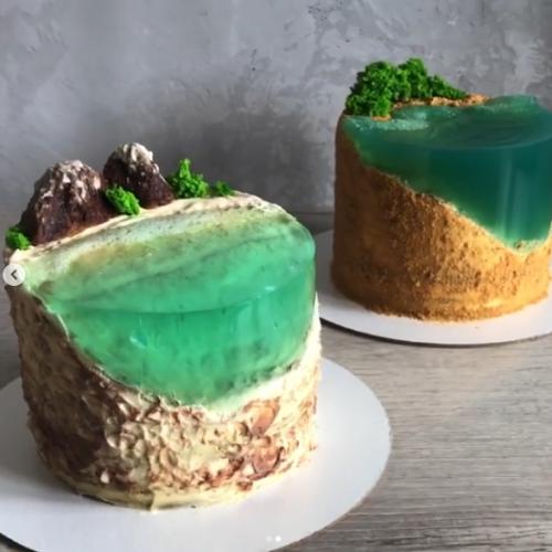 Видеоурок по декору торта: уникальныи? остров (Ксения Шульга)
