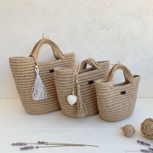 Вязание крючком. Сумочки из джута с канатом (mariya_mogilnichenko)