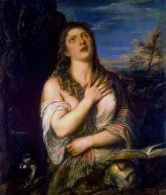 Кающаяся Мария Магдалина ( Репродукция Тициана Вечеллио , около 1565)