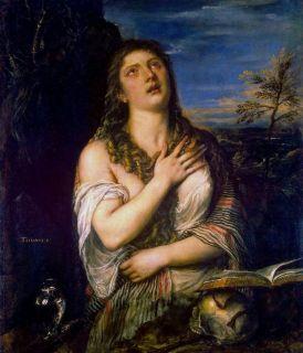 Кающаяся Мария Магдалина ( Репродукция Тициана Вечеллио , около 1565 г.)