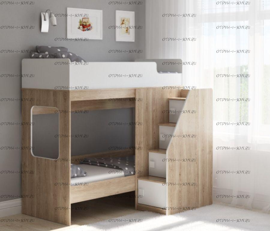 Кровать двухъярусная Легенда D603.3, два варианта цвета
