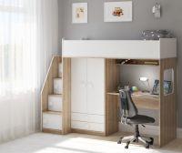 Кровать-чердак Легенда A606.3, два варианта цвета