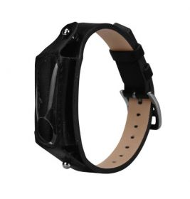 Ремешок для браслета Xiaomi Mi Band 2 кожа + защита