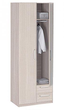 8.021Z Шкаф 2-х дверный с ящиками с зеркалом Лотос