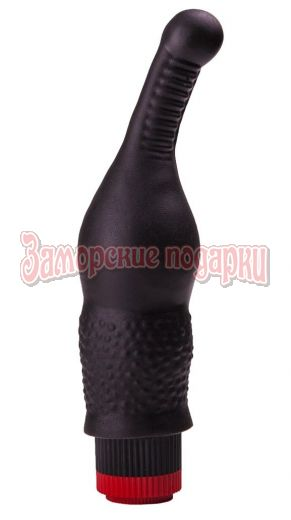 Анальный вибромассажёр с тоненьким стволом - 16,5 см.