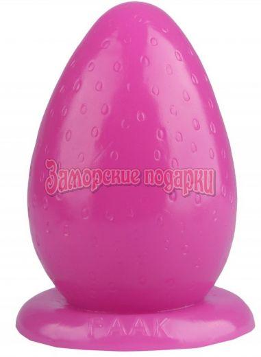 Розовая анальная втулка-ягодка -12,5 см.