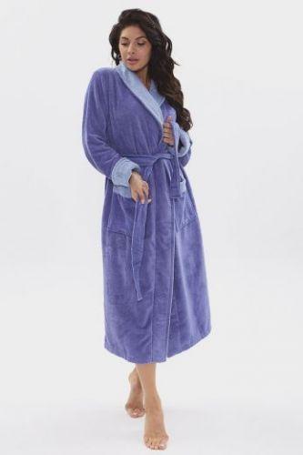 Женский махровый халат Soft Touch сирень