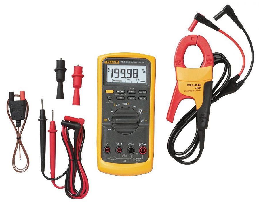 Комплект Fluke 87V IMSK - мультиметр Fluke 87V с токовыми клещами Fluke i400 AC