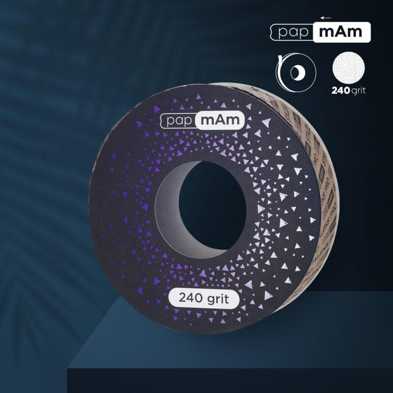 Запасной блок файл-ленты papmAm EXCLUSIVE для пластиковой катушки STALEKS PRO 240 грит (6м)