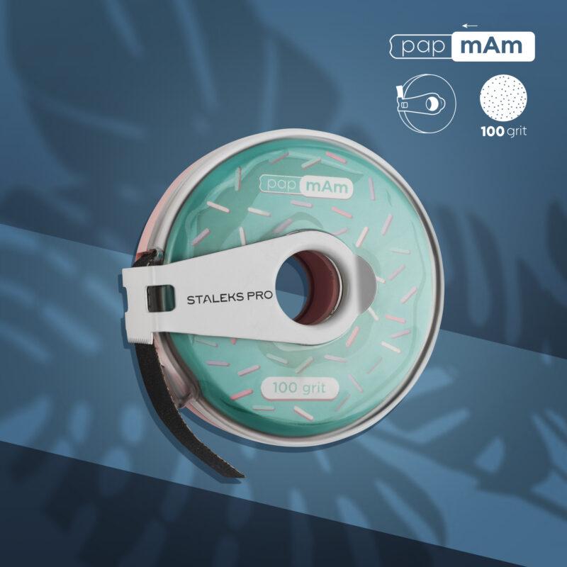 Сменный файл-лента papmAm в пластиковой катушке Bobbinail STALEKS PRO 100 грит (6м)