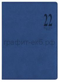 Ежедневник датир.А5 Letts MILANO синий 412 155020/22-081386