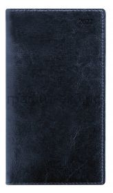 Еженедельник датир.(кожа) А6 Letts Global Deluxe синий 412 127320/22-081453