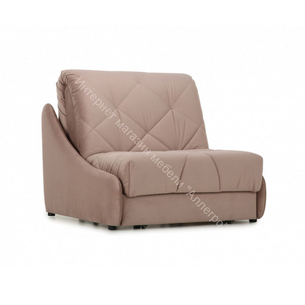 Кресло-кровать Мигель-0,8 (Velutto 06 (велюр) светло-коричневый)
