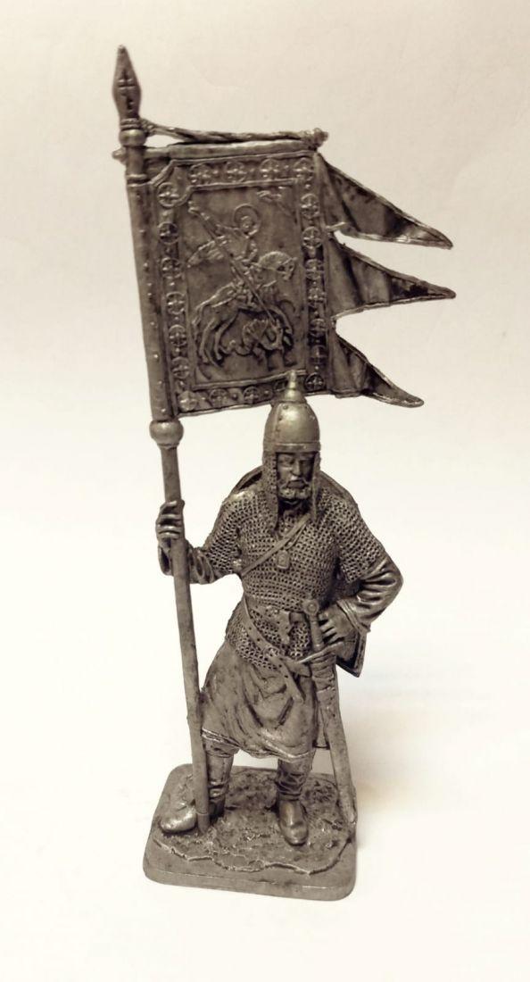 Фигурка Русский ратник со стягом Св.Георгия 11-13в. олово