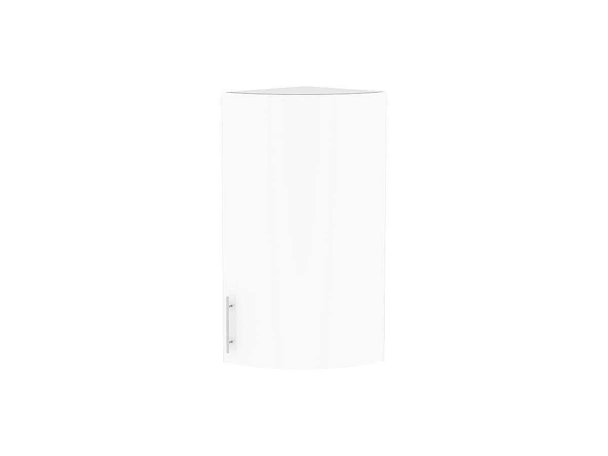 Шкаф верхний торцевой Валерия ВТ230S белый глянец