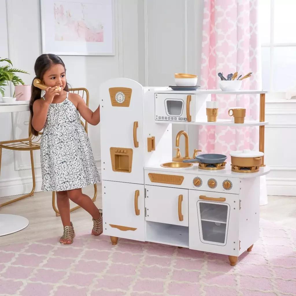 Детская кухня KidKraft White And Gold Vintage  - ограниченная серия
