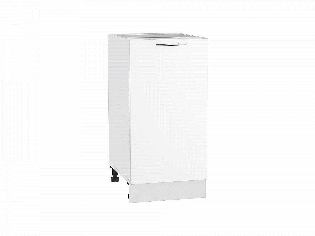 Шкаф нижний Валерия Н400 белый глянец