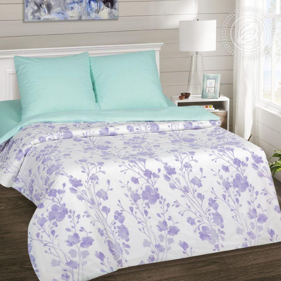 «Кармелита» (DE LUXE) постельное белье Поплин 2-х спальный с евро
