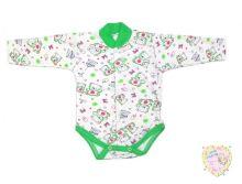 """Боди для новорожденных с длинным рукавом C-BD132-ITI (интерлок-пенье)  """"Мамин Малыш"""" код 01533"""