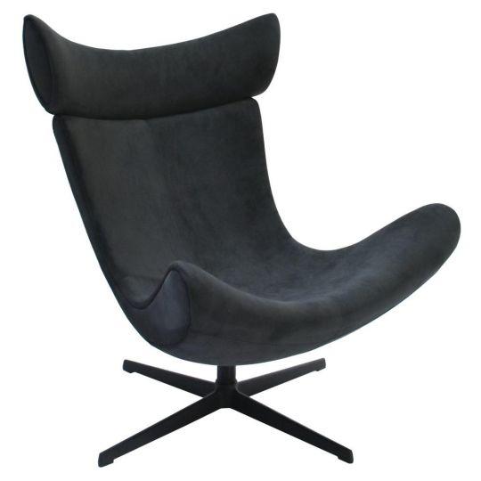 Кресло IMOLA графит, искусственная замша