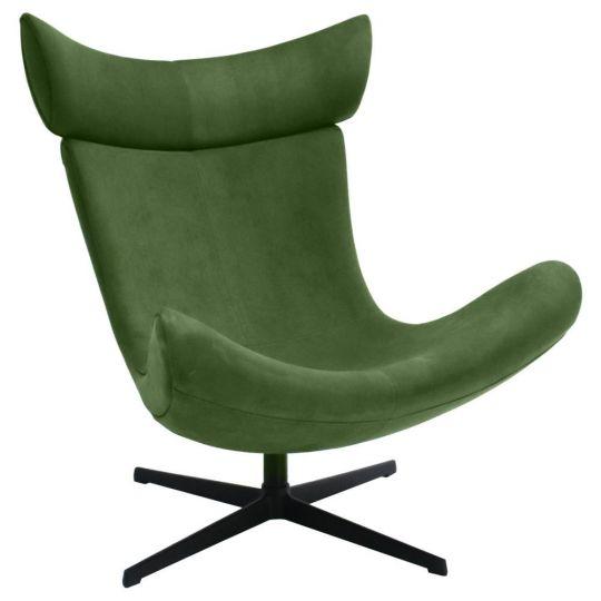 Кресло IMOLA зеленый, искусственная замша