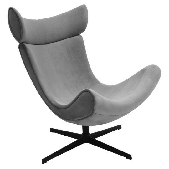 Кресло IMOLA серый, искусственная замша