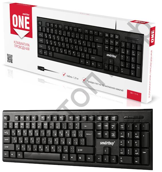Клавиатура провод. Smartbuy ONE 115 черная (SBK-115-K)