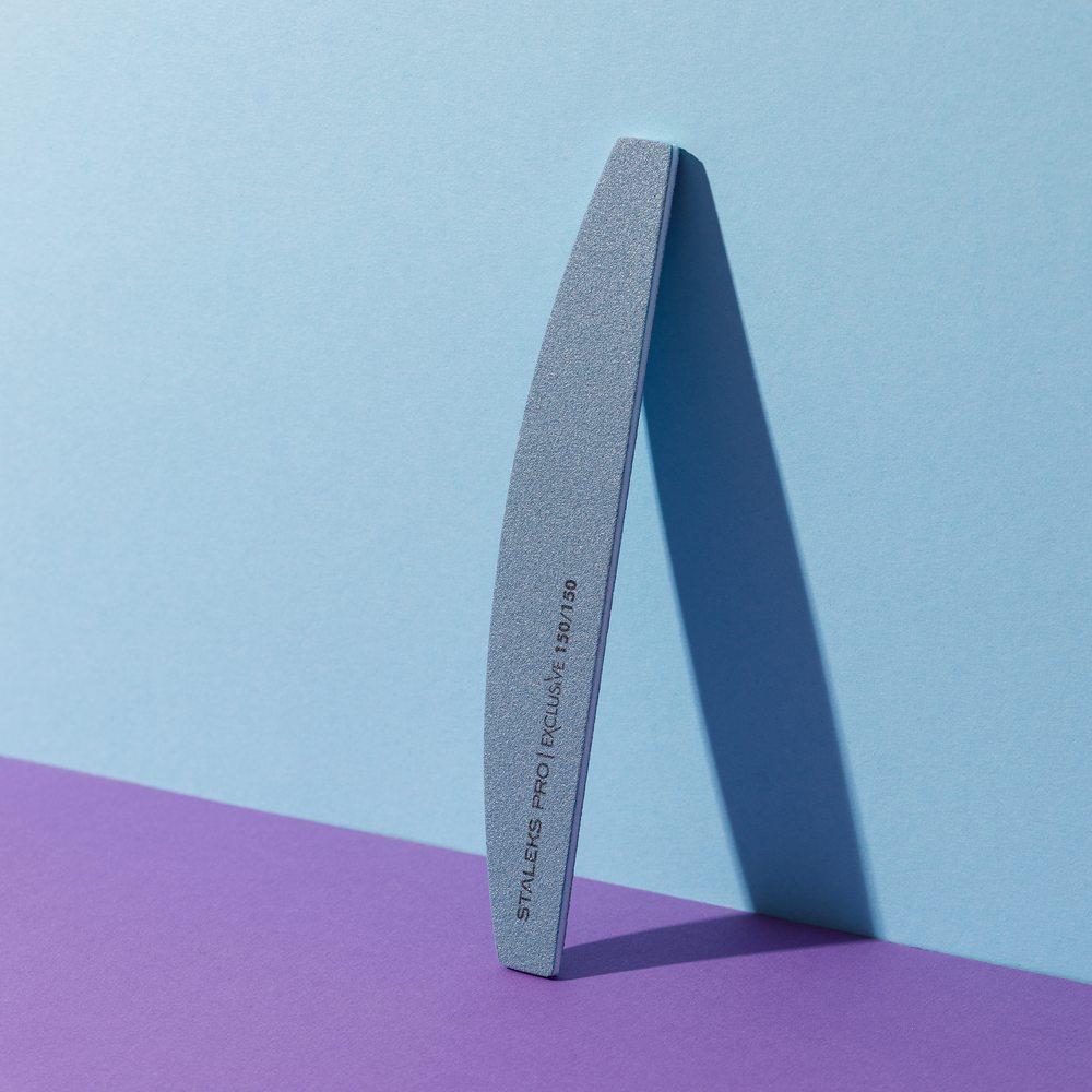 Пилка для ногтей, минеральная (полумесяц) Staleks Pro Exclusive, 150/150 грит (Арт. NFX-42/9)