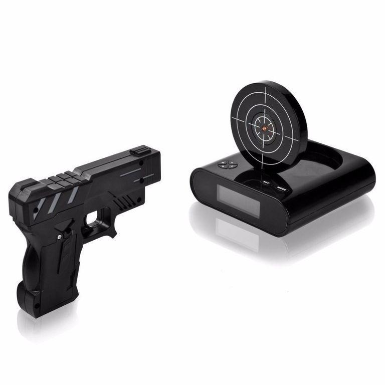 Будильник пистолет с мишенью Gun Alarm Clock/снайпер