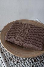 Полотенце махровое TRUVA 40*60 (коричневое) Арт.3166-4