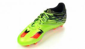 Детские бутсы adidas Messi 15.1 FG/AG Junior салатово-чёрные